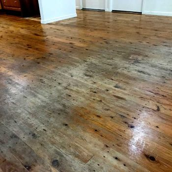 before - dining wooden floor restoration
