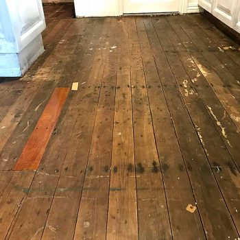 before - kitchen wooden floor restoration