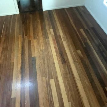 before - bedroom wooden floor restoration